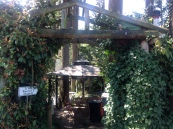Arbor entrance to back patios